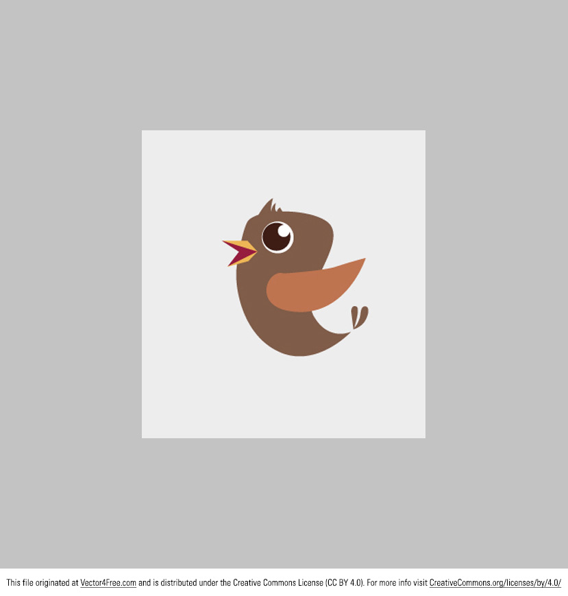 Little bird vectors are pretty trendy right now, so use this new Little Bird Vector in your next project! This bird vector is as cute as a button. Enjoy!