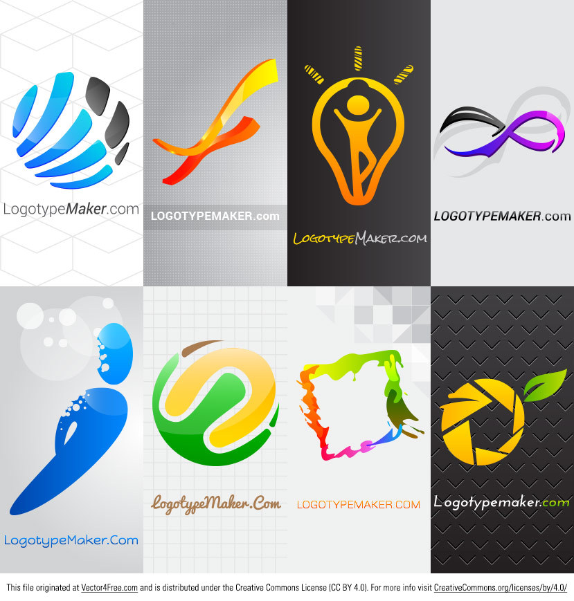 Introducing the new Logo Vector Pack! With this logo vector pack, you'll be able to quickly create tons of new logos without having to spend sooo much time on each. Use these ready made logo vector templates to create customized business logos.   Free for personal and commercial use.  Find more free business logos on http://logotypemaker.com website.
