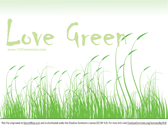 Love Green Free Vector by www.123FreeVectors.com