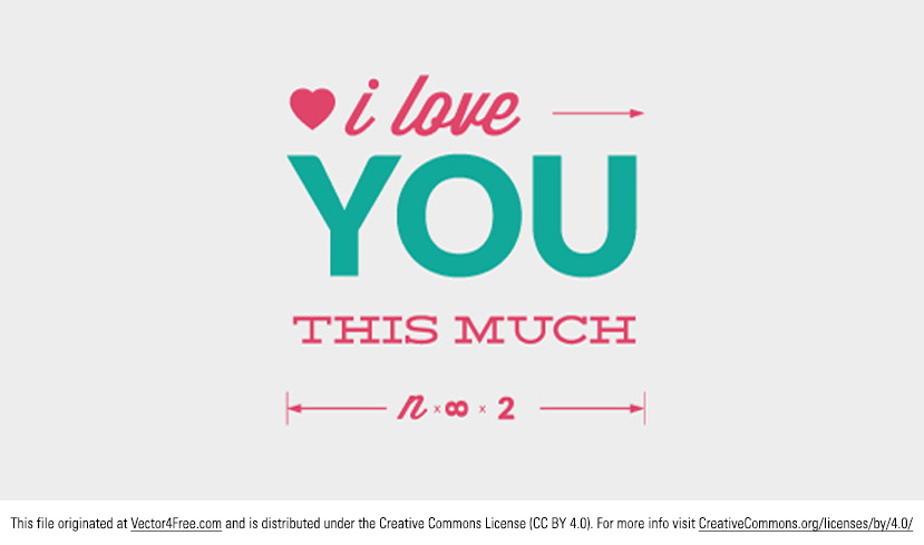It doesn't have to be Valentine's Day to tell someone you love them! Do that with this new Love You Vector Typographic Message! With a trendy typographic look, this love you vector would be perfect for so many projects. 