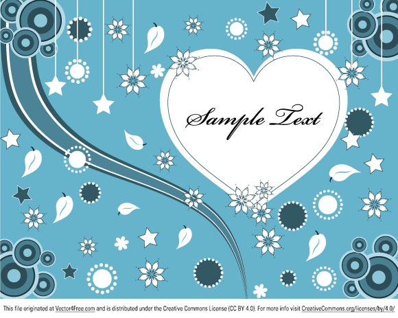 Lovely Valentine Heart Greeting Card Free Vector Illustration by www.123FreeVectors.com
