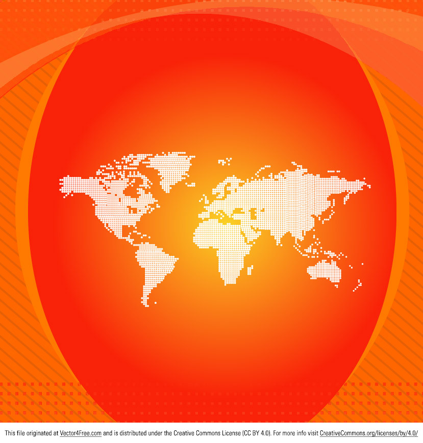 Check out this new Orange World Map Vector! Use this world map vector in your upcoming global projects. Hope you can use it!