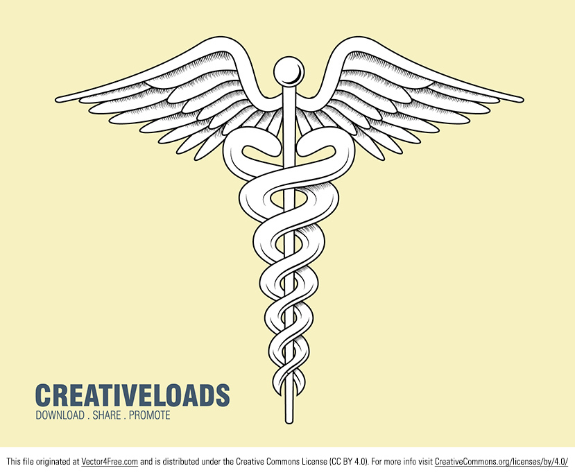 Need a new medical vector? I've created this Vector Medical Caduceus that you can download for free. Vector detailed medical caduceus sign.