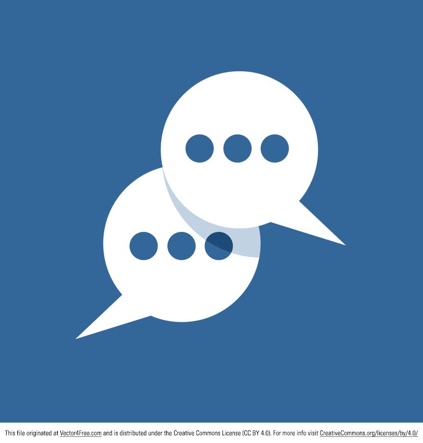 Messages Icon vector that would be great for speech bubbles, live chat icons, and more. From Vector Flat Design