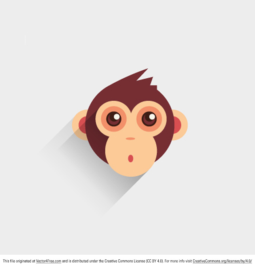 Isn't this new Baby Monkey Vector just the cutest thing? Whether you need an animal icon vector or you really need a baby monkey vector : ) this is the file for you. Enjoy this adorable monkey vector!