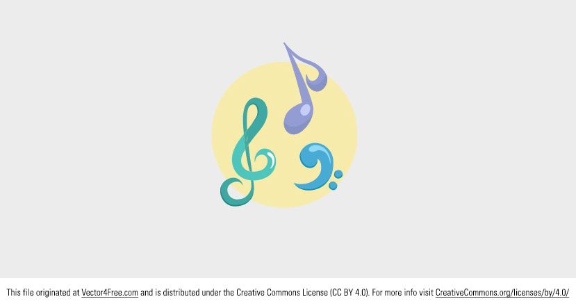 Here's a great colorful music vector. Download this Music Vector for FREE!