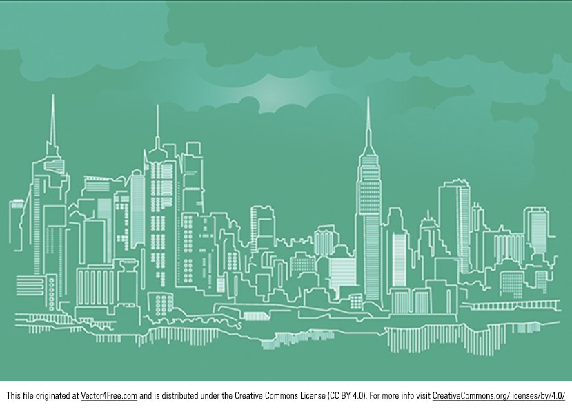 The New York City Skyline Vector is an elegant and crisp design of the world-famous Big Apple.  This meticulous skyline vector is as stunning as it is recognizable, thereby making it absolutely mandatory to download in case you ever need an urban skyscape.