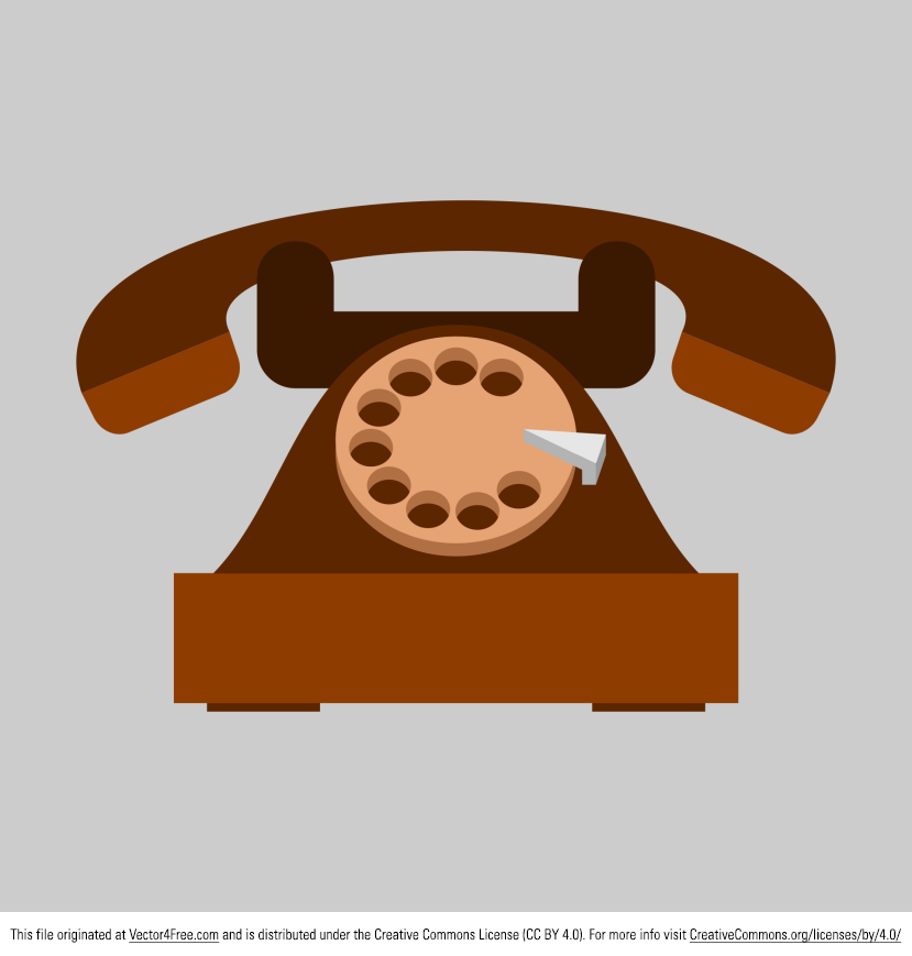 Here's a great vintage style Vector Old Telephone Flat Icon. Vector Graphics