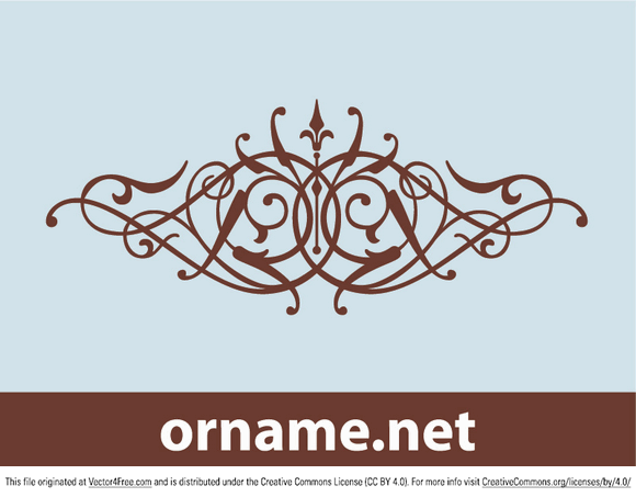 Calligraphy ornament in vector