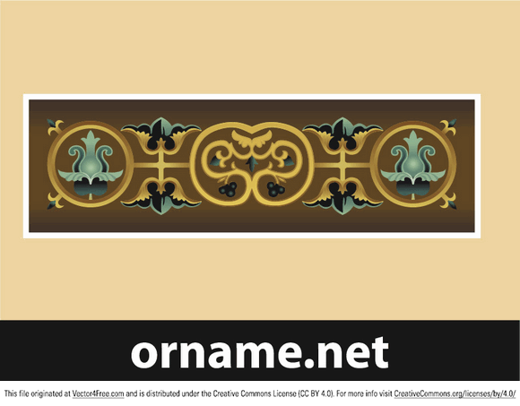 Ancient Byzantine ornament in vector format.