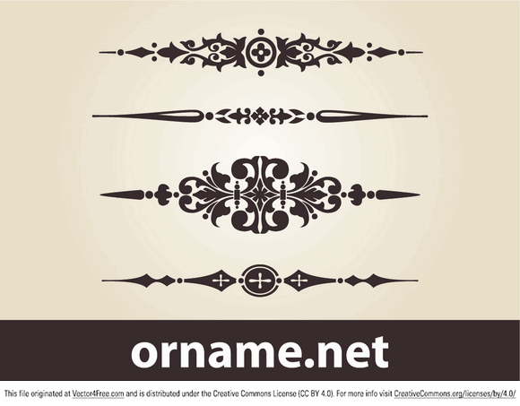 Vintage Design Elements Free Vector Art