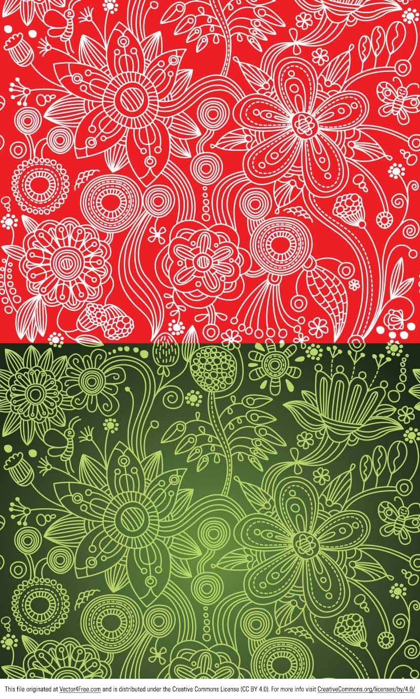 Check out my new Green and Red Floral Paisley Vector Patterns! These paisley pattern vectors are super cute and ready for any kind of background or project. These would be perfect for scrapbooking, too!