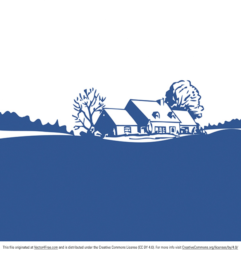 Free Peaceful Dream Home Vector