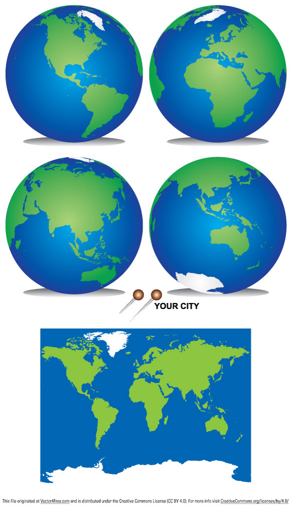 free vectors graphics - Planet Earth Vector