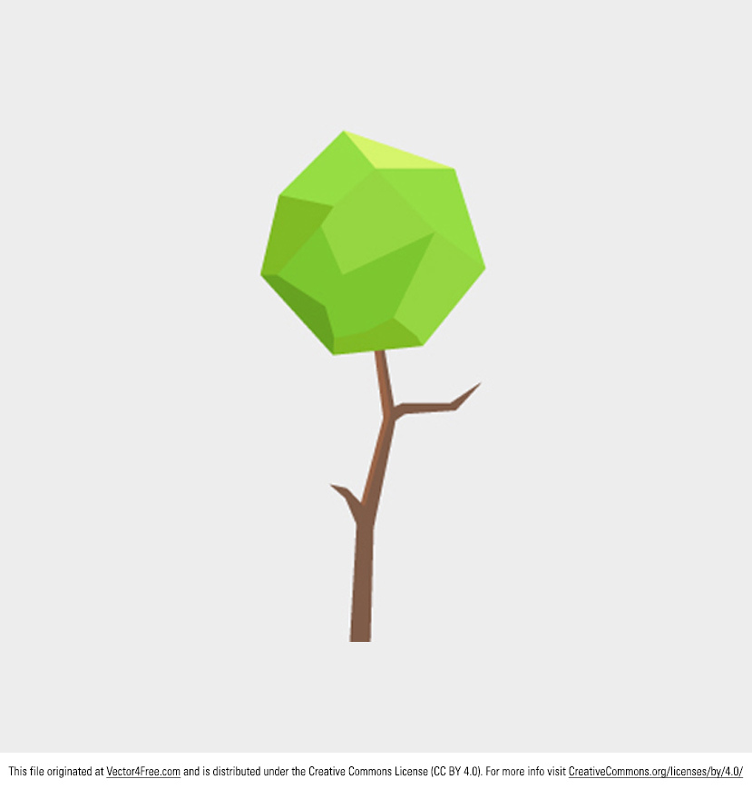 Polygonal is all the rage these days. Get up to date in your designs with this new Polygonal Tree Vector! This polygonal tree vector has the perfect balance of simple abstract design and detailed work. Enjoy!