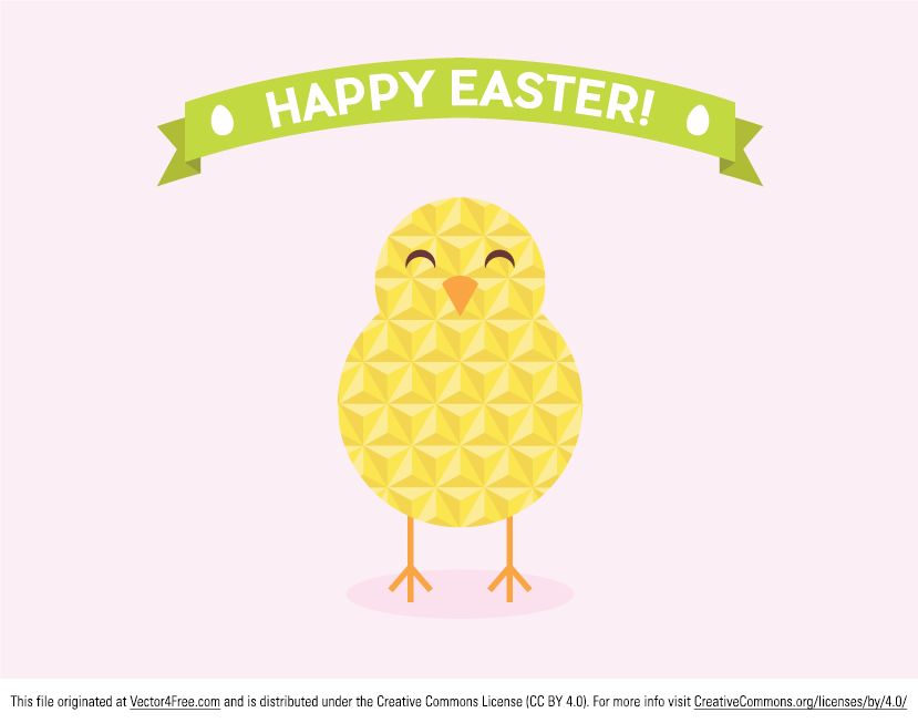 Flat Geometric Easter vector in .ai &.eps format for your seasonal designs!