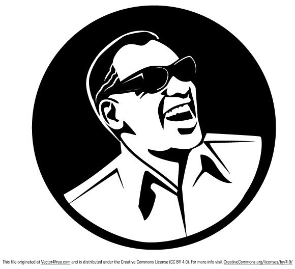 Ray Charles vector portrait.