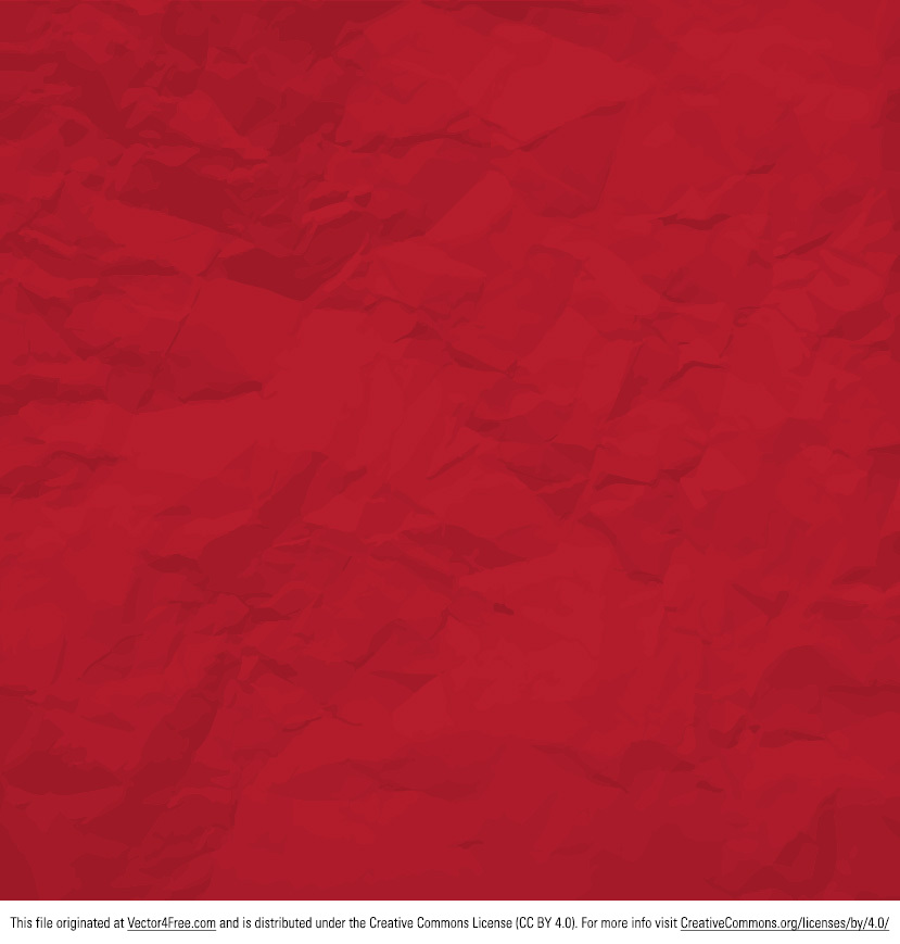 Add depth to your designs with this Red Crumpled Paper Vector. The new free red crumpled paper vector is usable in any way imaginable. Mimicking wrinkled paper perfectly, you'll just love the red crumpled paper vector.