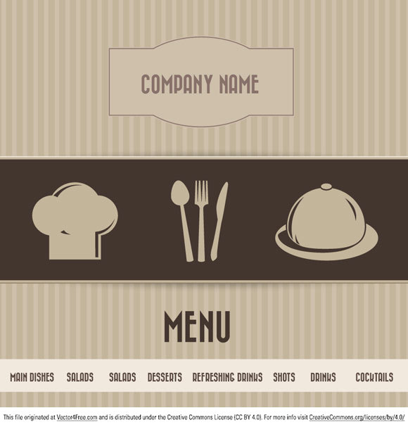 "Retro restaurant menu in the vector file. Besides the fact that it looks really cool, has the right colors and fonts hand-picked just right for your prints and website templates, there's nothing else to say but ""Download and enjoy!""."