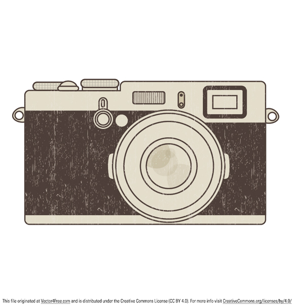 Retro photo camera illustration