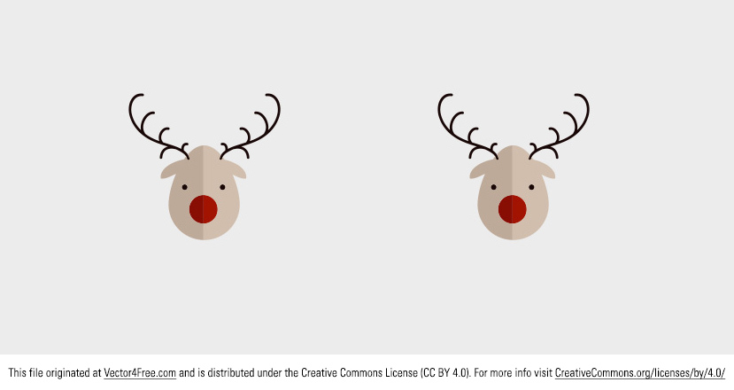 Today's freebie is a Vector Rudolph. This is the classic Rudolph the red nosed reindeer vector and I hope you can use it in your Christmas projects next year. 