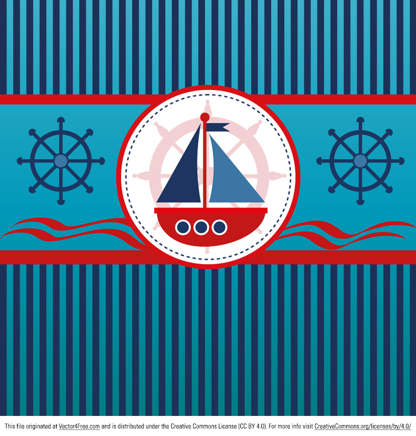Free Sailboat Background Vector