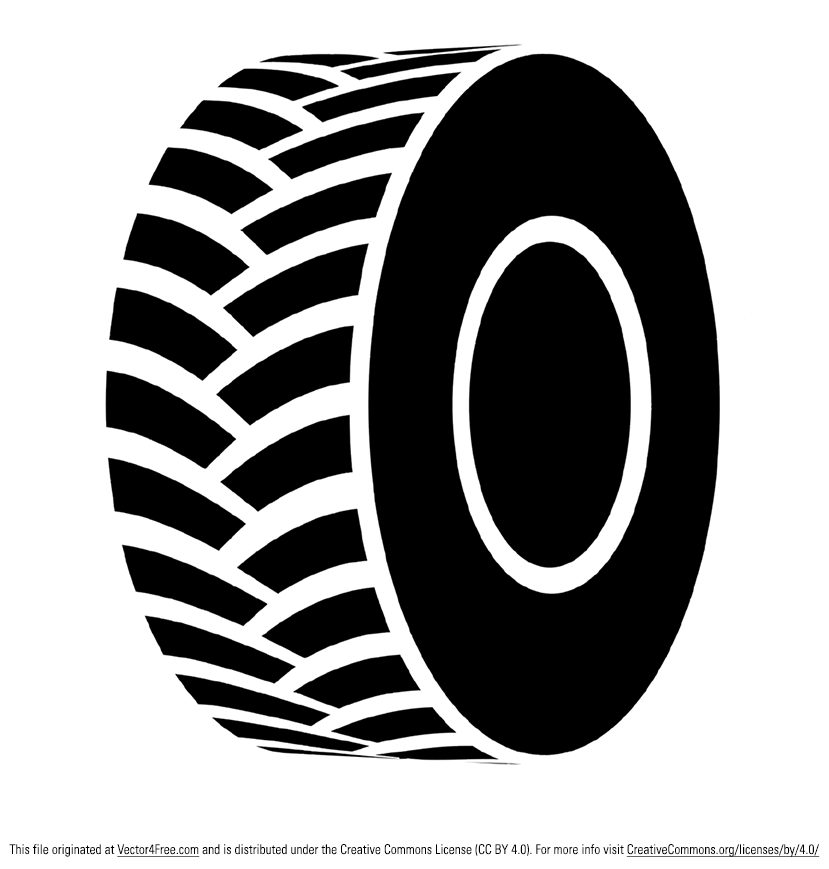 Here's a simple but useful black tractor tire vector that is totally free that I hope you find useful.