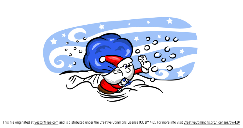Santa Claus fighting with winds on his sleigh on Christmas Eve. Hope you can use this Santa Claus Vector Cartoon in your work.