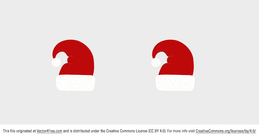 Today's freebie is a Santa hat. Christmas is coming and so is Santa Claus! You better be good! 