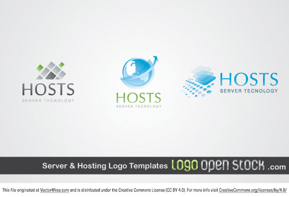 Server and Hosting Logo template is another logo pack release by Logo Open Stock under Creative Commons 3.0 Attribution license. This time you can see abstract images, globe and a soft-smooth style that convey safety and reliability.