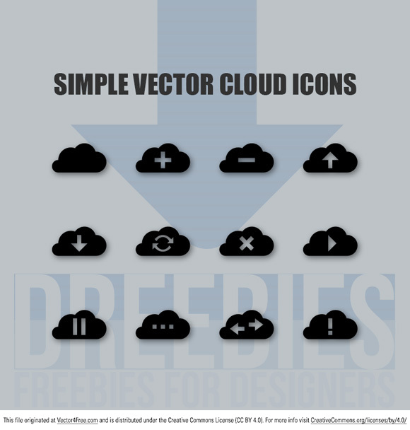 Cool pack of 12 totally free cloud icons in Ai EPS and PNG format. Download use and remember to credit Dreebies!