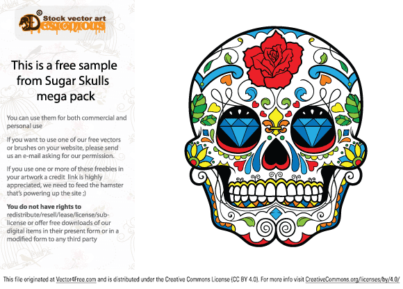 We just released an incredible Free Colorful Skull VectorFreebie!