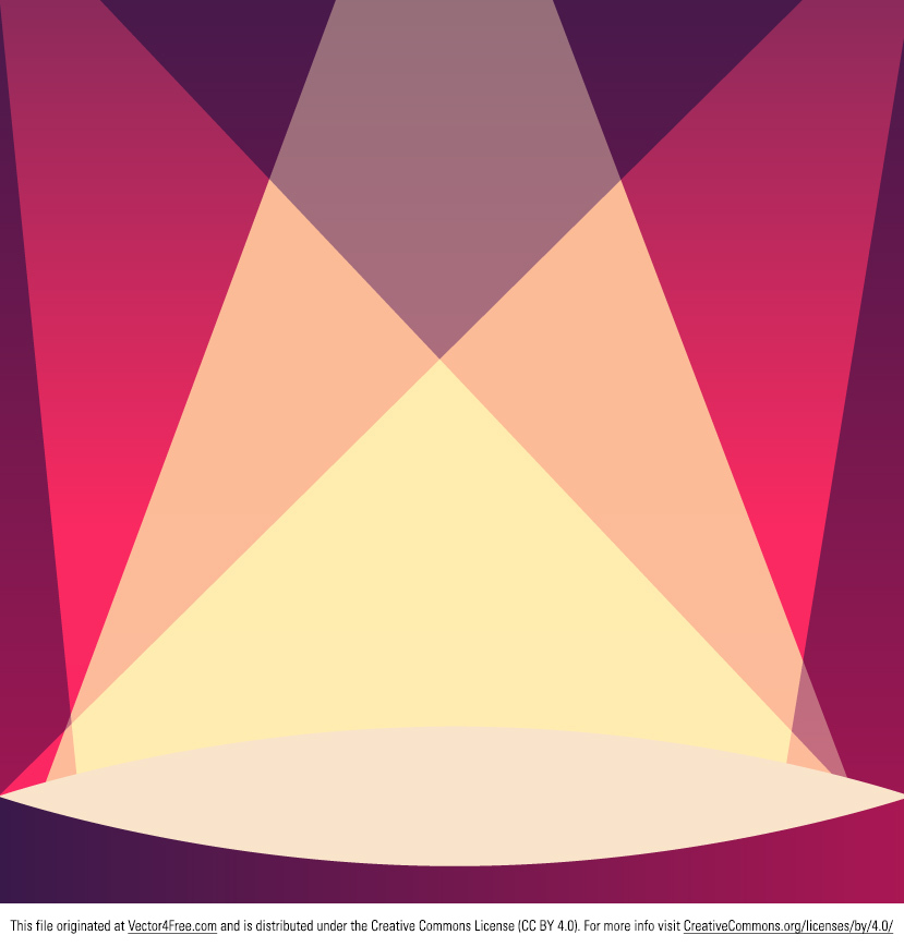 Theater Lights Background: Free Stage Background Vector