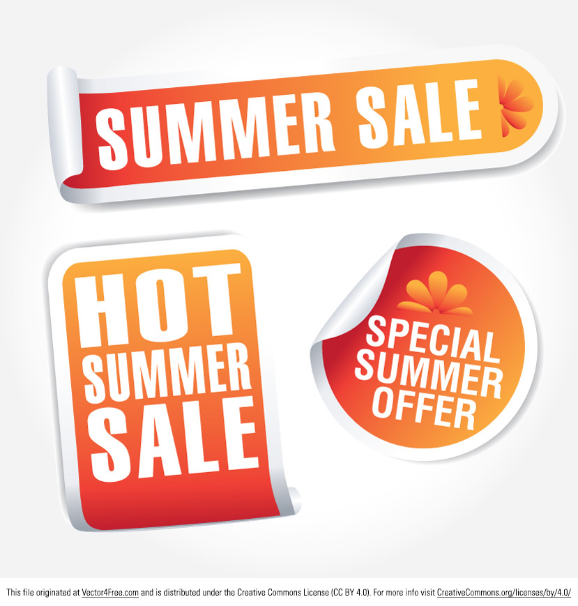 free summer sale tag vectors