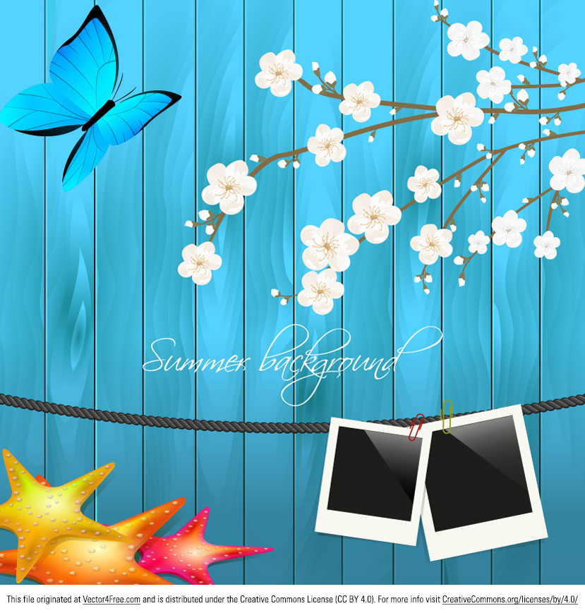 Use the new Summertime Vector Background to easily create a beautiful design with your vacation photos! Also, this new free summertime vector background is fully editable so you can remove elements or add more picture frames! Give this summertime vector background a try and you won't regret it!