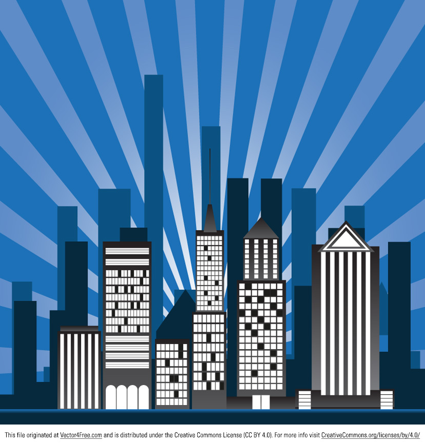 Designing for a night out? Then this cityscape Sunburst Building Vector will help you out! You can easily use this cityscape sunburst building vector as a background for your project, whether it is a flyer, a poster or something else. Download this new free cityscape sunburst building vector and make quick work of your projects!