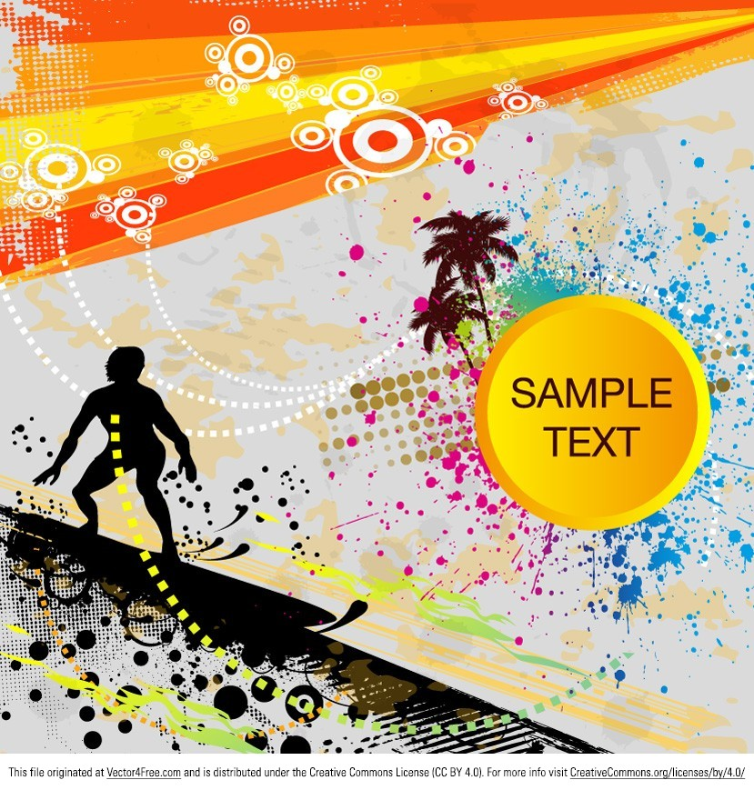 Ready your designs ready for an awesome summer with this new Surfer Background Vector! Usable on so many of your projects, you'll love the new free surfer background vector! Download the surfer background vector now and your projects will be a walk in the park.