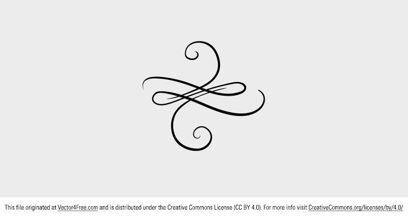 Today's freebie vector is a cool free vector swirly ornament. Feel free to use this swirl ornament vector in commercial and non-commercial projects, personal websites and printed work, as long as it's a part of a larger design.