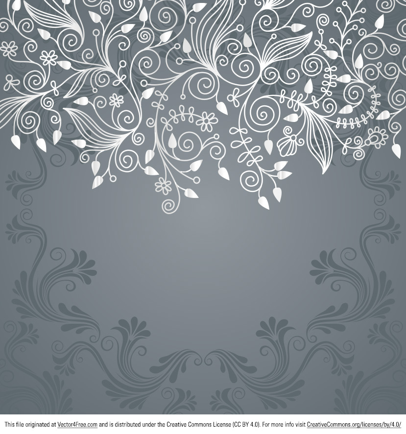 I've been on a swirly kick lately, so I thought I'd make this Grey Floral Swirl Vector Background and share it with you guys. This Grey Floral Swirl Vector Background has a great hand drawn style that I hope you like.