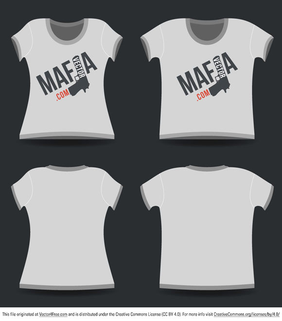 T-shirt Vector Templates - woman and man t-shirt in the ai format. Check <a href=