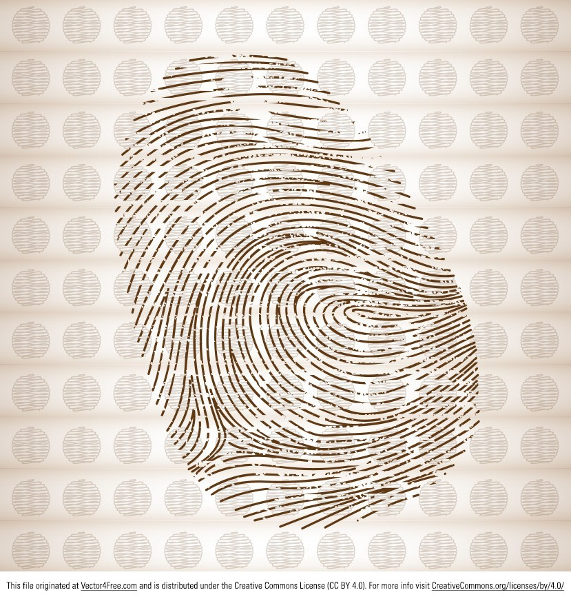 Give your projects a personal touch with this new Thumb Print Vector. An impressive replica of a human fingerprint, the new free thumb print vector can be used in any project you might need it. The thumb print vector is a must for any respectable designer.