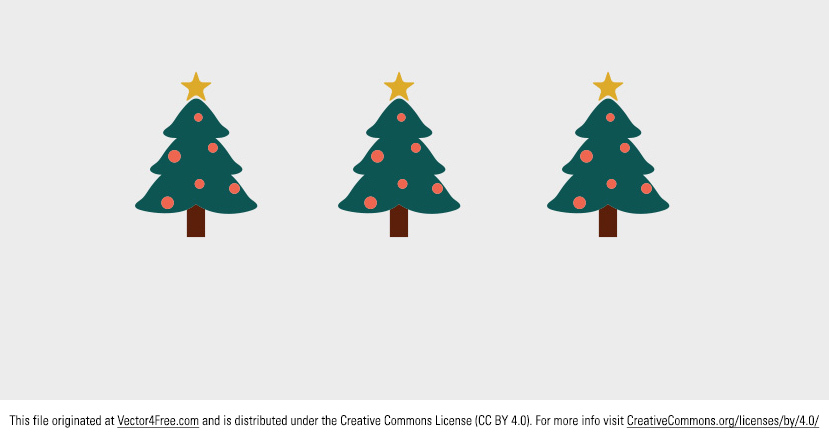 Today's freebie is a Cute Christmas Tree Vector. I hope you can use this decorated christmas tree in your work! Merry Christmas!