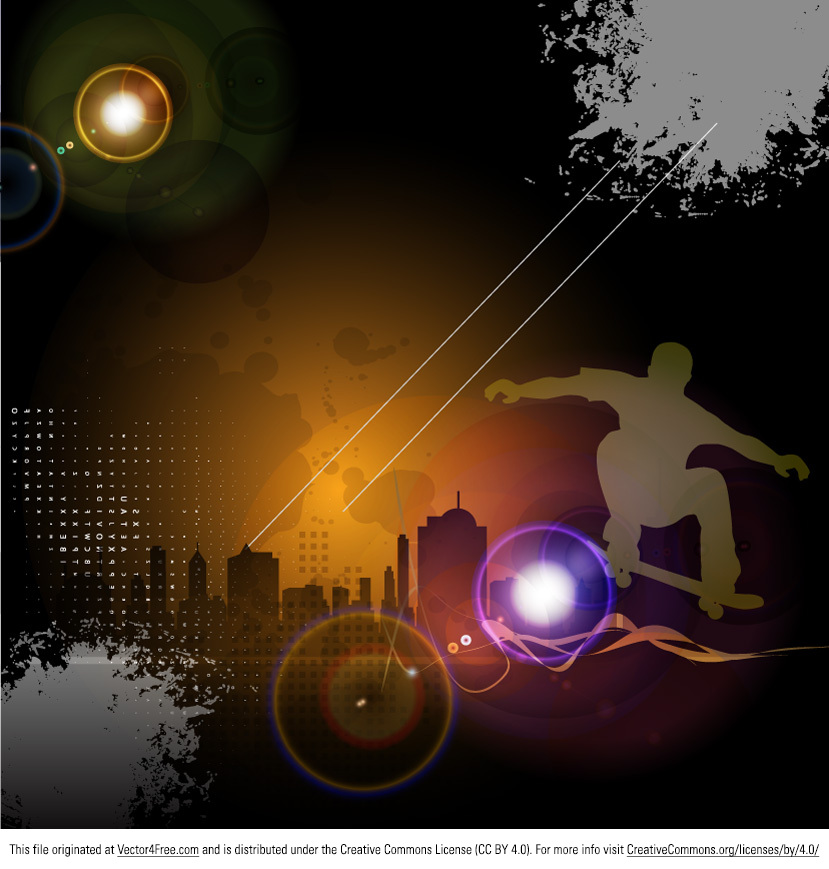 Have a look at our new Urban Skateboard Background Vector! A modern design that most surely everybody will appreciate, this urban skateboard background vector is an ideal choice for many of your projects. So download it, use it and start making a name for yourself!