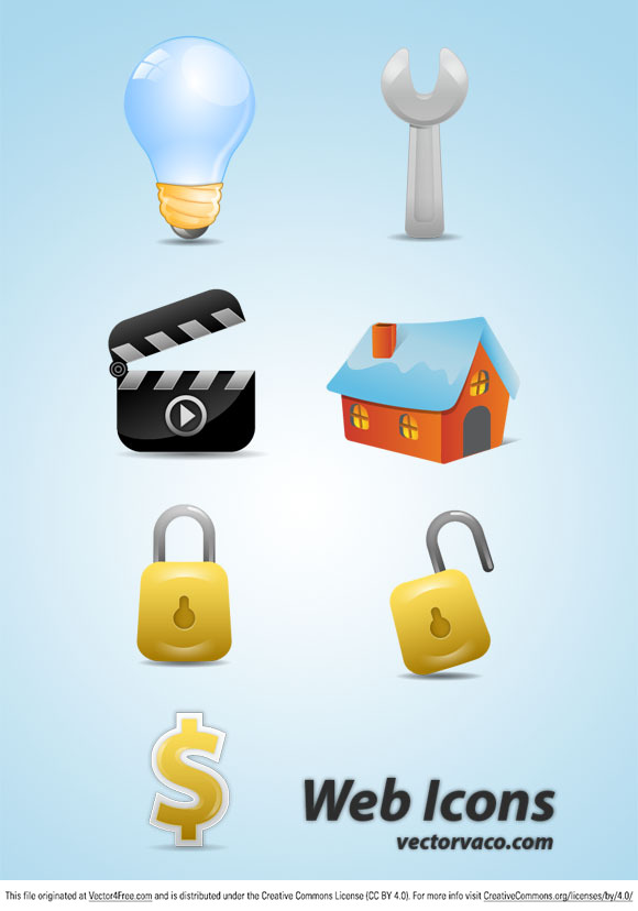 Web Icons Vector by vectorvaco.com