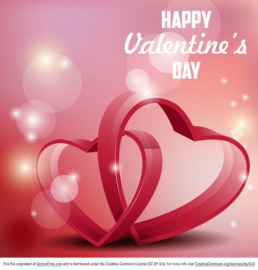 It's almost Valentine's Day! Get your designs ready with this Valentine's Day Background. Glossy vector illustration with 3D hearts and text for Valentine's day.