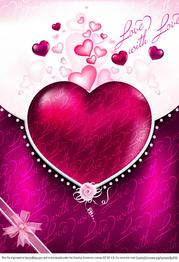 Free Valentines Background from www.vectors.at