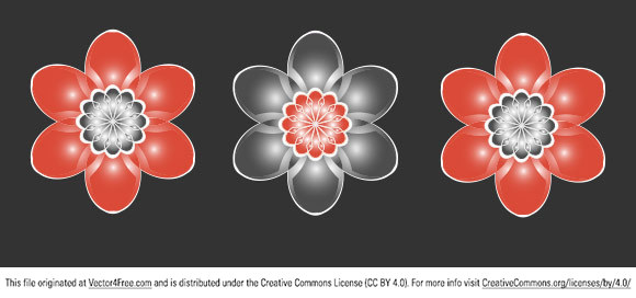 Cool vector flower brought you by <a href=