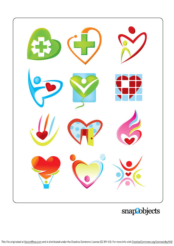 Free Vector Heart Shaped Logo Template