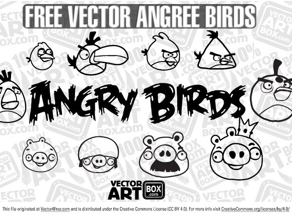 Too glad to introduce absolutely hand draw characters from a most of popular game in the World! This is a Angry Birds! Free vector sketch angry birds you can download for freebie.  Free for commercial use.