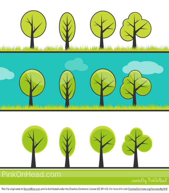 Hope you find this Free Tree Vetor Collection useful in your designs. This Vector Trees are simplified, cute and free :)